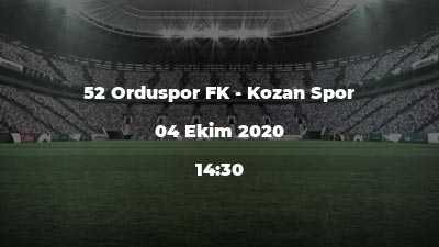 52 Orduspor FK - Kozan Spor