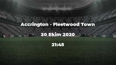 Accrington - Fleetwood Town