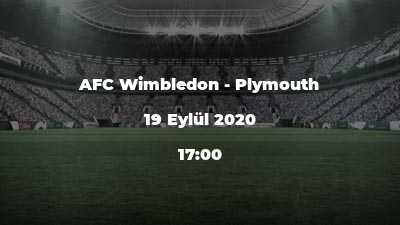 AFC Wimbledon - Plymouth