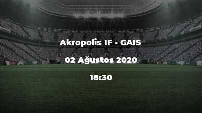 Akropolis IF - GAIS