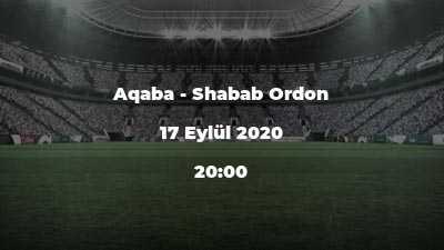 Aqaba - Shabab Ordon