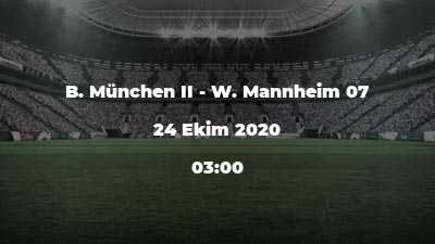 B. München II - W. Mannheim 07