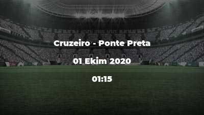 Cruzeiro - Ponte Preta