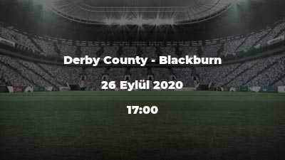 Derby County - Blackburn