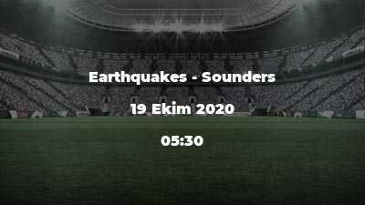 Earthquakes - Sounders