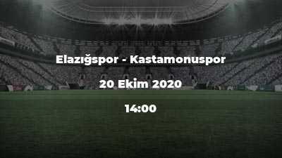 Elazığspor - Kastamonuspor