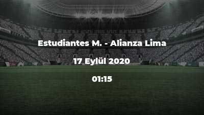 Estudiantes M. - Alianza Lima