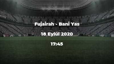 Fujairah - Bani Yas