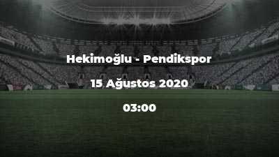 Hekimoğlu - Pendikspor