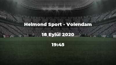 Helmond Sport - Volendam