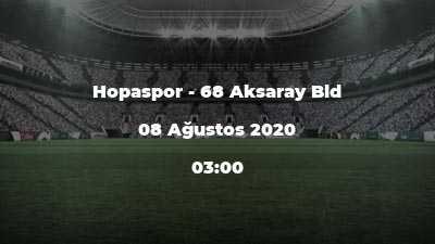 Hopaspor - 68 Aksaray Bld