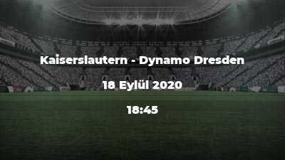 Kaiserslautern - Dynamo Dresden