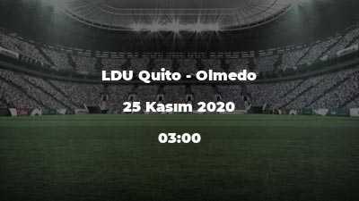 LDU Quito - Olmedo