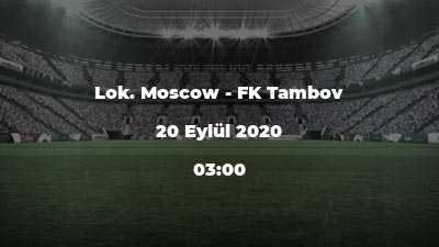 Lok. Moscow - FK Tambov