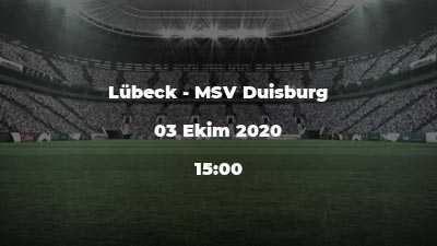 Lübeck - MSV Duisburg