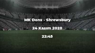 MK Dons - Shrewsbury