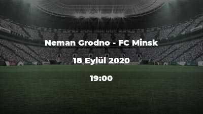 Neman Grodno - FC Minsk