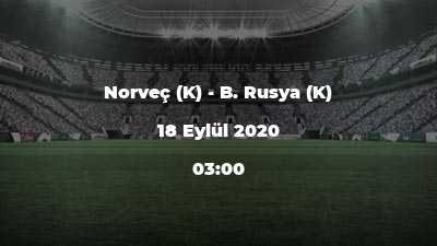 Norveç (K) - B. Rusya (K)