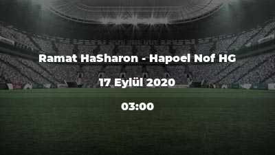 Ramat HaSharon - Hapoel Nof HG