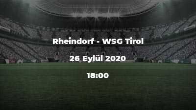 Rheindorf - WSG Tirol