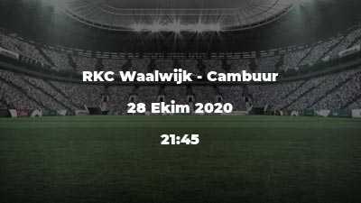RKC Waalwijk - Cambuur