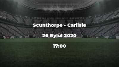 Scunthorpe - Carlisle