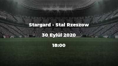 Stargard - Stal Rzeszow