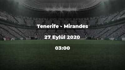 Tenerife - Mirandes