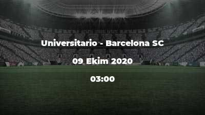 Universitario - Barcelona SC