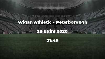 Wigan Athletic - Peterborough