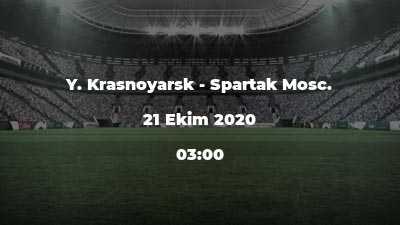 Y. Krasnoyarsk - Spartak Mosc.